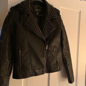 Mango Faux Leather Jacket
